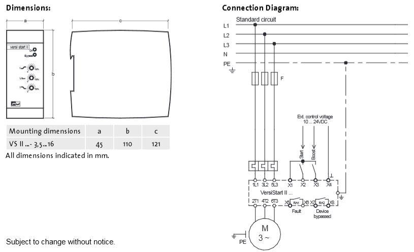 Anslutningschema för VS II 3,5-16A