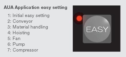 Easy Key för lagring av parametersatser i frekvensomriktare