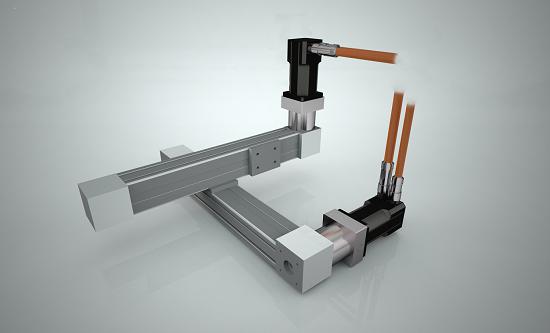 xy-bord linjärenheter servomotorer